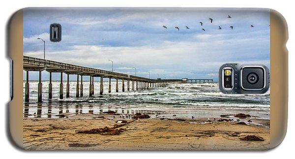 Ocean Beach Pier Fishing Airforce Galaxy S5 Case