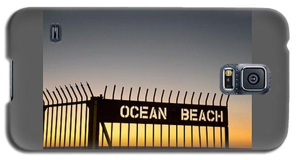 Ocean Beach Pier Gate Galaxy S5 Case by Christopher Woods