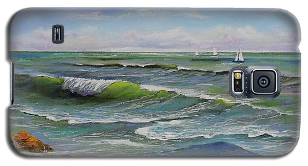 Galaxy S5 Case featuring the painting Ocean Breeze by Mary Scott