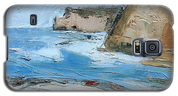 Galaxy S5 Case featuring the painting Ocean Cliffs by Gary Coleman