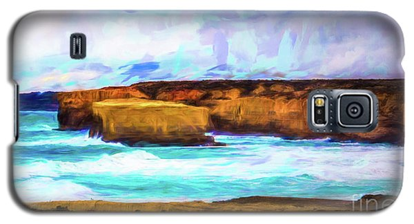 Galaxy S5 Case featuring the photograph Ocean Cliffs by Perry Webster