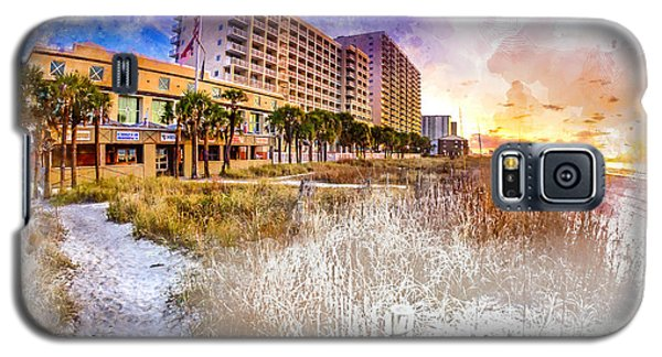 Ocean Drive Sunrise Watercolor Galaxy S5 Case