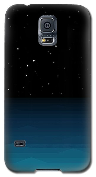 Ocean - Elements - Starry Night Galaxy S5 Case by Val Arie