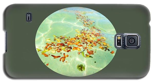 Ocean Flowers Oval Galaxy S5 Case by Linda Hollis