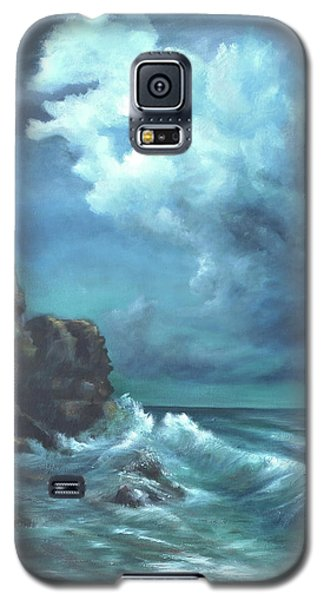 Seascape And Moonlight An Ocean Scene Galaxy S5 Case