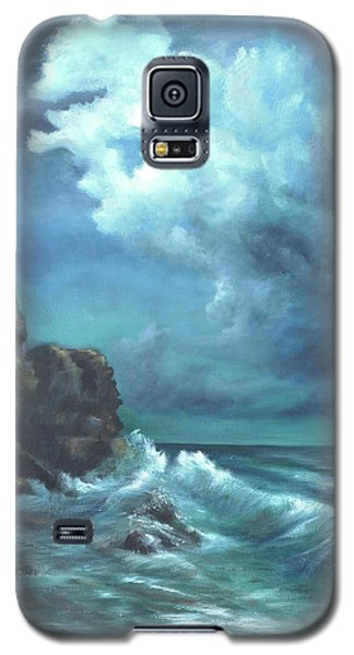 Seascape And Moonlight An Ocean Scene Galaxy S5 Case