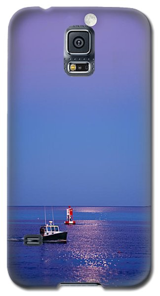 Moon Galaxy S5 Cases - Ocean Moonrise Galaxy S5 Case by Steve Gadomski