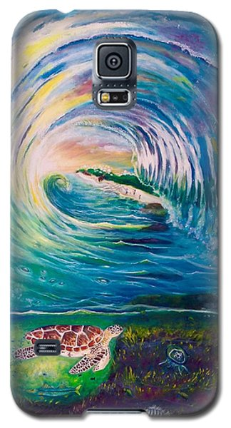 Galaxy S5 Case featuring the painting Ocean Reef Beach by Dawn Harrell