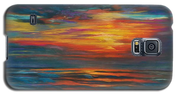 Galaxy S5 Case featuring the pastel Ocean Sunrise by Karen Kennedy Chatham