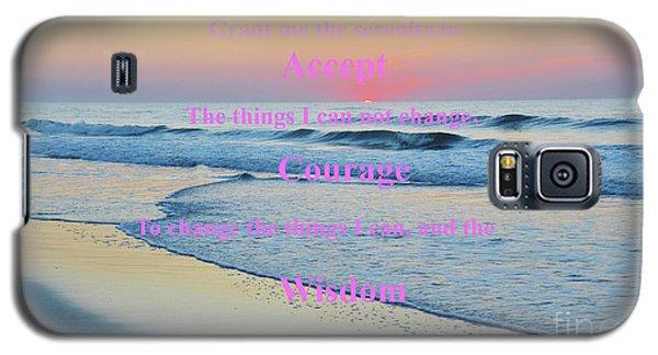 Ocean Sunrise Serenity Prayer Galaxy S5 Case