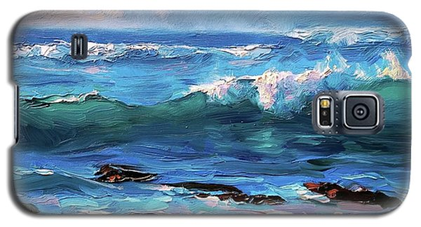 Coastal Ocean Sunset At Turtle Bay, Oahu Hawaii Beach Seascape Galaxy S5 Case
