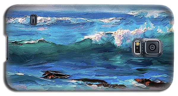 Coastal Ocean Sunset At Turtle Bay, Oahu Hawaii Beach Seascape Galaxy S5 Case