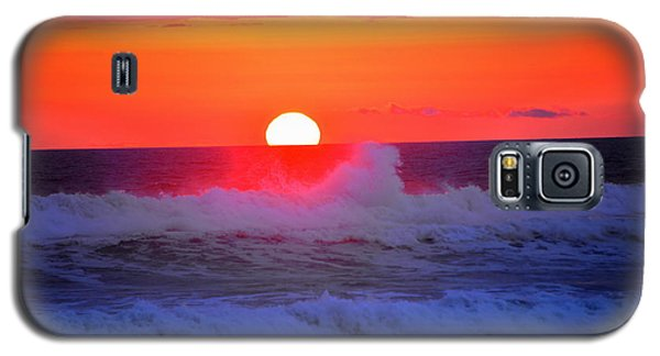 Galaxy S5 Case featuring the photograph Ocean Sunset by Jerry Cahill