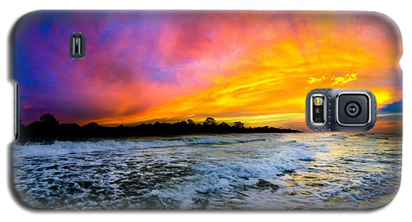 Ocean Sunset Landscape Photography Red Blue Sunset Galaxy S5 Case
