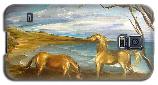 Galaxy S5 Case featuring the painting Ocean View Dining by Dina Dargo