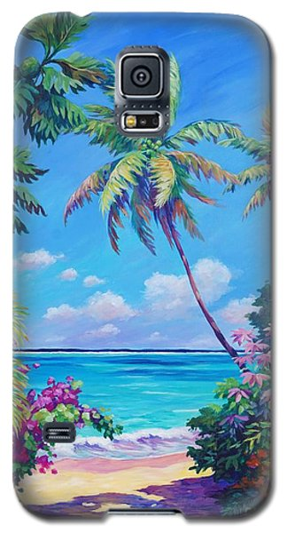 Landscapes Galaxy S5 Case - Ocean View With Breadfruit Tree by John Clark