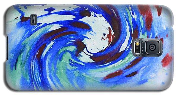 Ocean Wave Watercolor Galaxy S5 Case