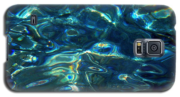 Galaxy S5 Case featuring the photograph Ocean Water Reflections Island Santorini Greece by Colette V Hera  Guggenheim