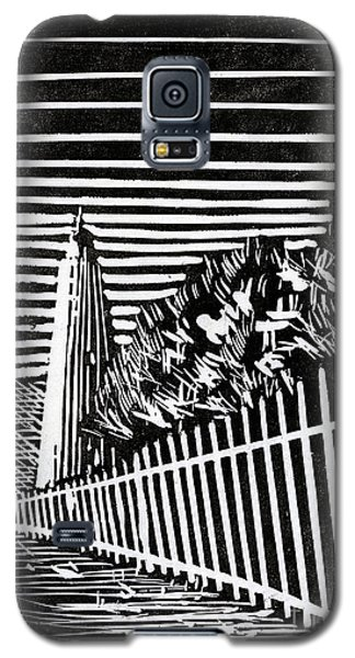 Galaxy S5 Case featuring the painting Ocracoke Island Lighthouse by Ryan Fox
