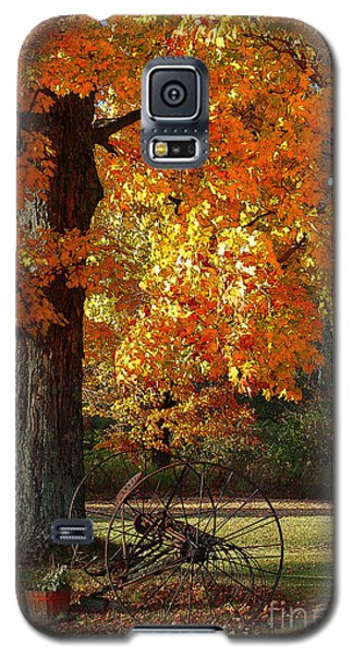 Galaxy S5 Case featuring the drawing October Day by Diane E Berry