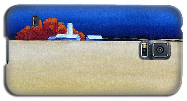 Galaxy S5 Case featuring the painting October Fields by Jo Appleby
