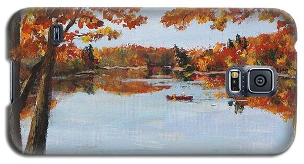 October Morn At Walden Pond Galaxy S5 Case by Jack Skinner