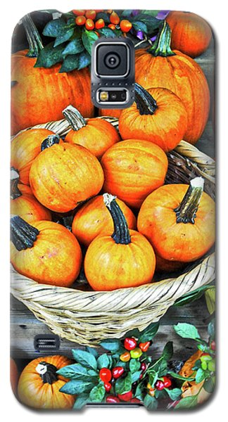 Galaxy S5 Case featuring the photograph October Pumpkins by Joan Reese