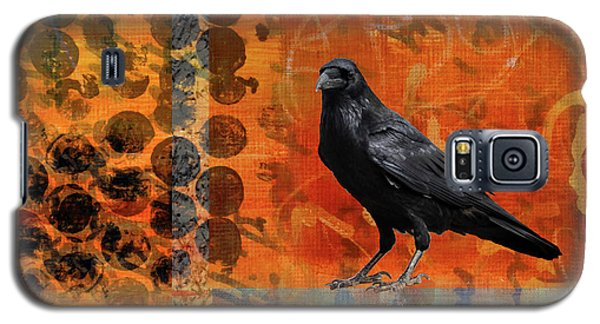 Galaxy S5 Case featuring the painting October Raven by Nancy Merkle