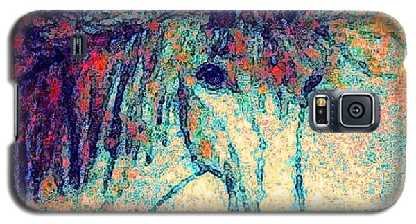 Galaxy S5 Case featuring the painting October Spectra by Holly Martinson