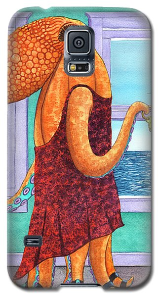 Octopus In A Cocktail Dress Galaxy S5 Case