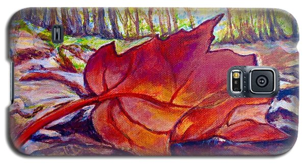 Galaxy S5 Case featuring the painting Ode To A Fallen Leaf Painting by Kimberlee Baxter