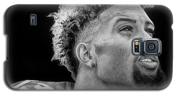 Odell Beckham Jr. Drawing Galaxy S5 Case by Angelee Borrero