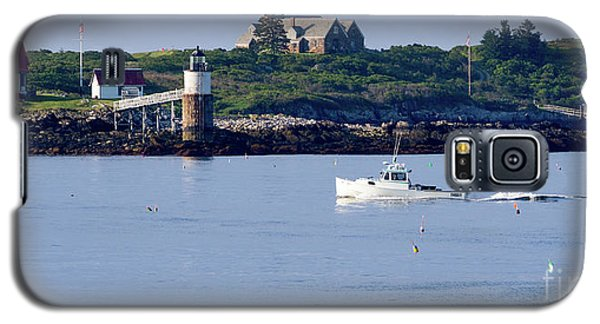 Galaxy S5 Case featuring the photograph Off To Work, East Boothbay, Maine #50011 by John Bald
