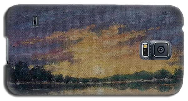 Galaxy S5 Case featuring the painting Offshore Sunset Sketch by Kathleen McDermott
