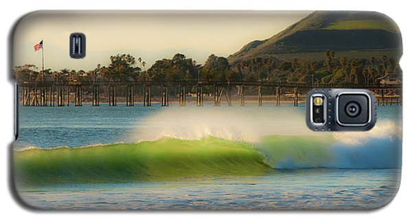Galaxy S5 Case featuring the photograph Offshore Wind Wave And Ventura, Ca Pier by John A Rodriguez