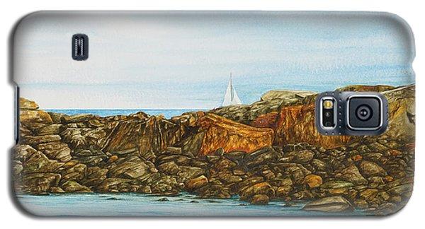 Ogunquit Maine Sail And Rocks Galaxy S5 Case