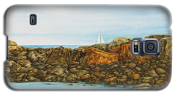 Ogunquit Maine Sail And Rocks Galaxy S5 Case