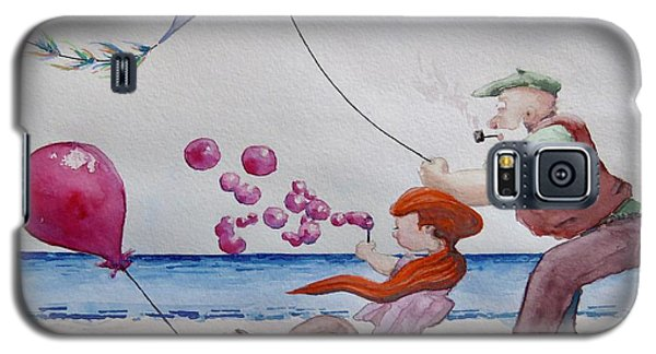 Galaxy S5 Case featuring the painting Oh My Bubbles by Geni Gorani