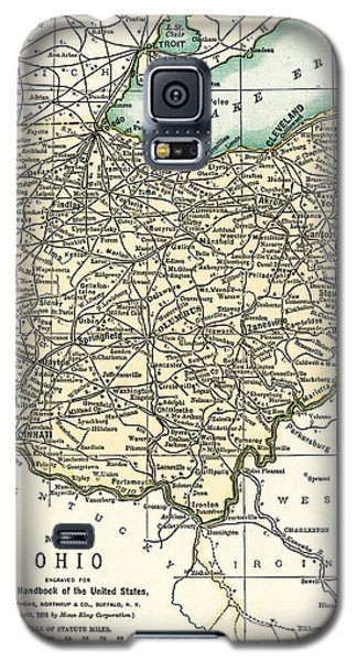 Ohio Antique Map 1891 Galaxy S5 Case