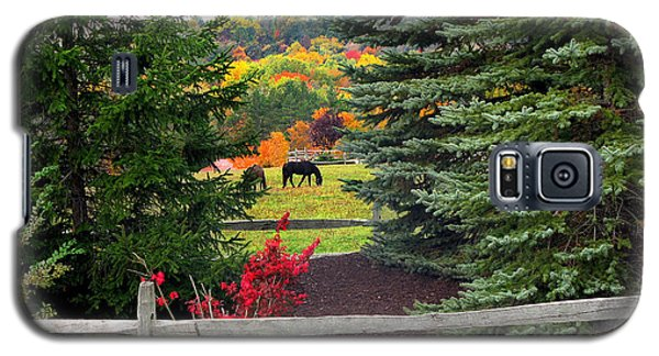 Ohio Farm In Autumn Galaxy S5 Case