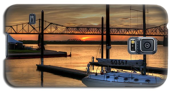 Galaxy S5 Case featuring the photograph Ohio River Sailing by Deborah Klubertanz
