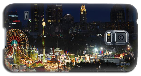 D3l-464 Ohio State Fair With Columbus Skyline Galaxy S5 Case