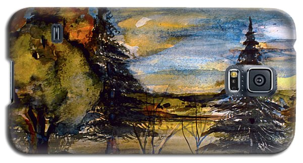Galaxy S5 Case featuring the painting Ohio Sunset by Mindy Newman