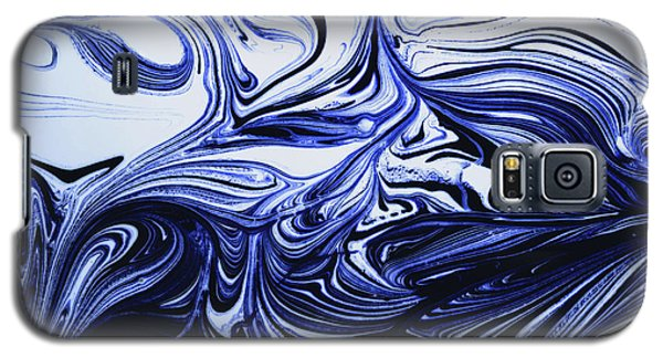 Oil Swirl Blue Droplets Abstract I Galaxy S5 Case