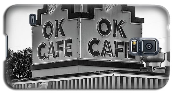 Ok Cafe Neon 2 B W Atlanta Classic Landmark Restaurant Art Galaxy S5 Case