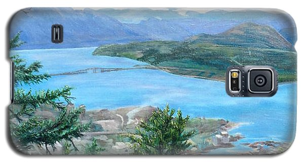 Galaxy S5 Case featuring the painting Okanagan Blue by Bonnie Heather