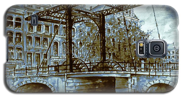 Old Amsterdam Bridge - Dutch Blue Water Color Galaxy S5 Case