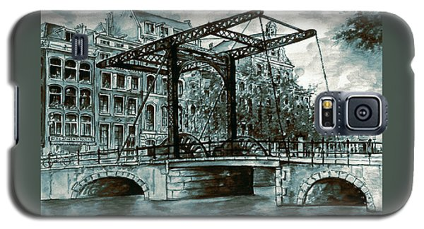 Old Amsterdam Bridge In Dutch Blue Water Colors Galaxy S5 Case