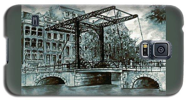 Old Amsterdam Bridge In Dutch Blue Water Colors Galaxy S5 Case
