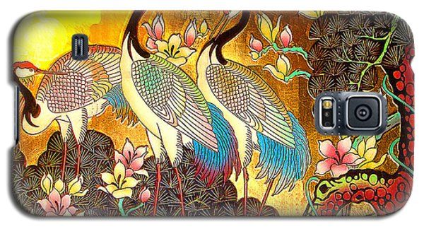 Old Ancient Chinese Screen Painting - Cranes Galaxy S5 Case by Merton Allen